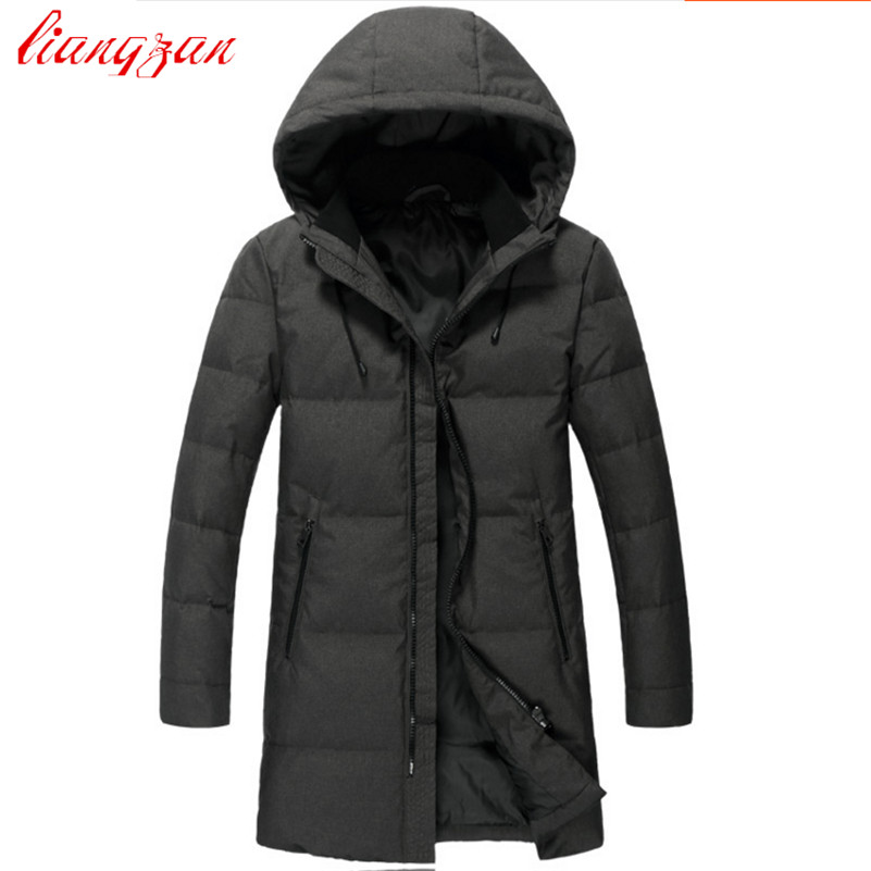 Men High Quality   Down     Coats   Brand Design 90% White Duck Winter Warm Snow Thick Medium-Long   Down   Parkas Casual Trench   Coats   F2352