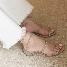 A word with the sandals section 2018 The new rough with Roman strap women s  shoes with 3e350f7b2edc