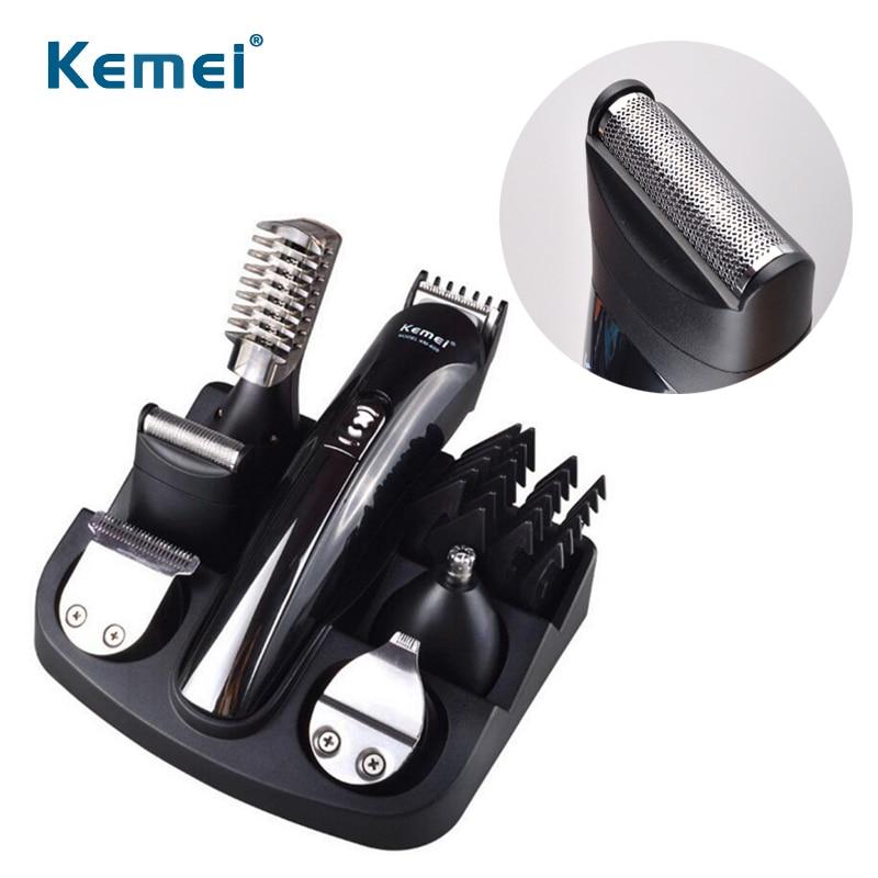 где купить Hair Trimmer Set Nose Ear Trimmer Men Hair Cutter Shaving Machine Electric Hair Clipper Comb Barber Razor Beard Trimmers Kit дешево