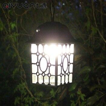 חיצוני אור ברזל עמיד למים תליון אורות Creative סלון מסעדת לופט מרפסת גן וילה שחור תליון מנורות ZA