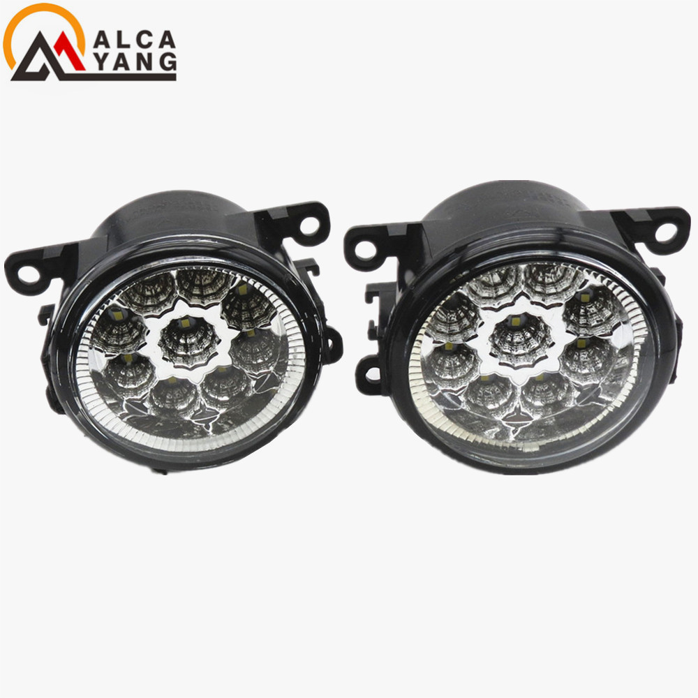 Malcayang Car styling front bumper LED fog Lights high brightness fog lamps eagle eye For DACIA Duster Sandero LOGAN 2004-2015 led front fog lights for acura tl 2012 2013 2014 car styling bumper high brightness drl driving fog lamps 1set