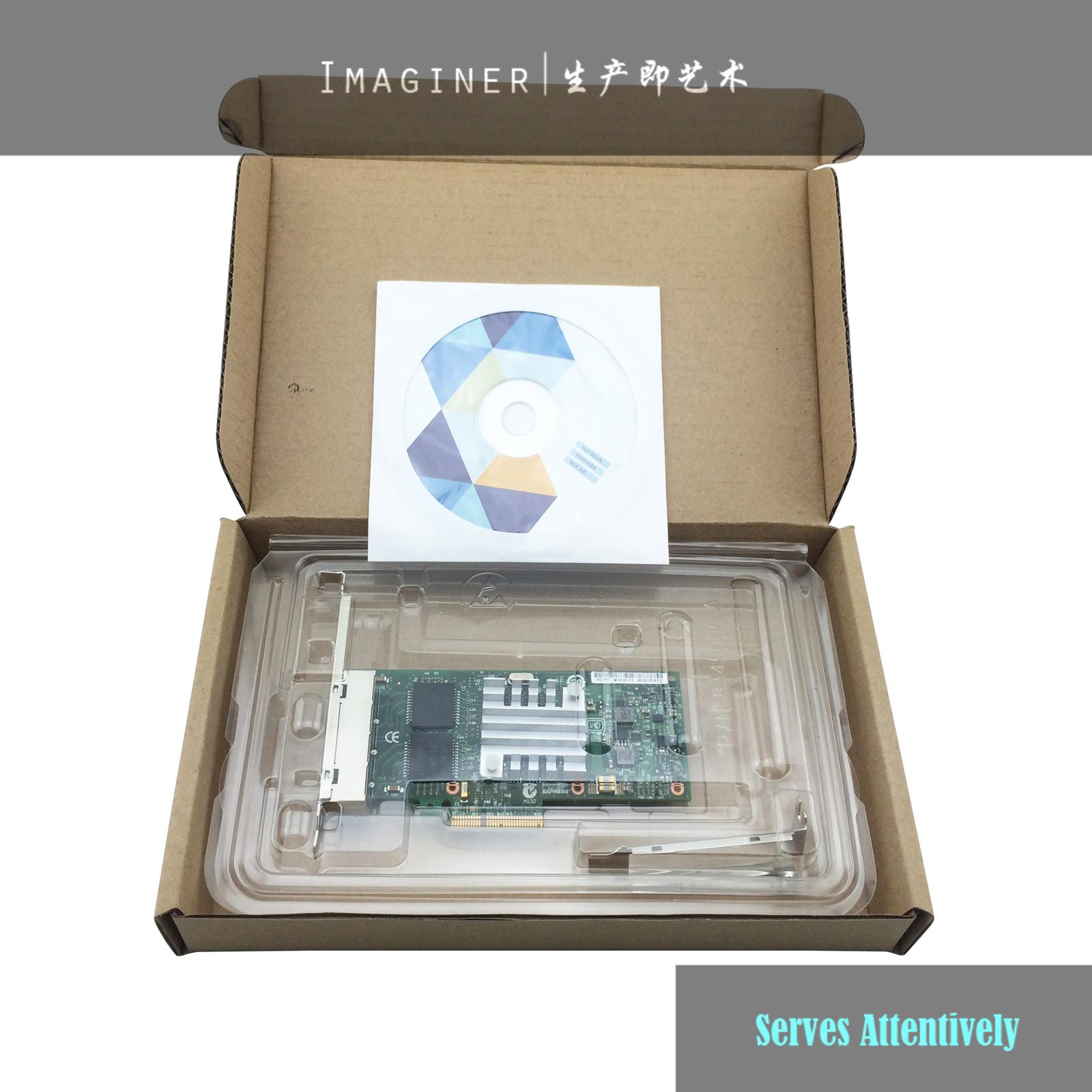 Prix pour Usine Nouveau Quad Port NIC E1G44HT/E1G44HTBLK I340-T4 Carte Réseau 10/100/1000 Mbps 4 X RJ45 PCI-E Ethernet Serveur Carte 1an Wty