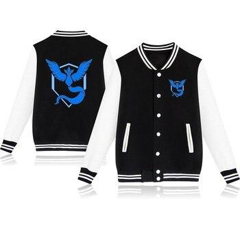 Men Women Pokemon Team Jacket New Autumn Winter Fashion Instinct Mystic Valor Print Jacket Hipsters Unisex Casual Sweatshirts