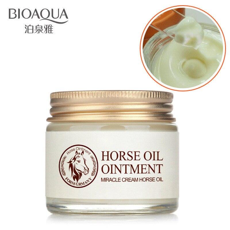 цена на BIOAQUA horse oil cream moisturizing anti aging cream scar face body whitening cream skin care ageless products korea cosmetics