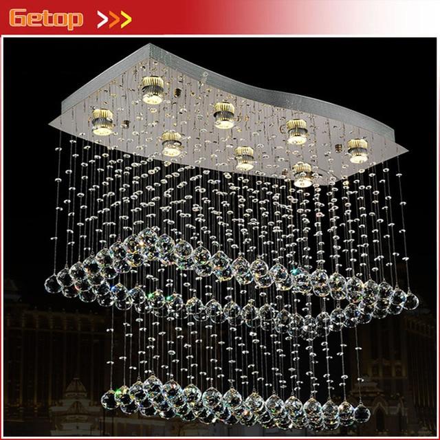 GETOP Modern LED Crystal Pendant Chandelier Light Creative Lower Power Eye-protective GU10 for Parlor Bedroom Restaurant Lamp