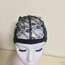 Ткацкая шапка s для женщин, сетка для волос и сетки для волос, легкая шапочка, кружевной парик без клея, шапка для изготовления париков с регулируемыми бретелями, 6005