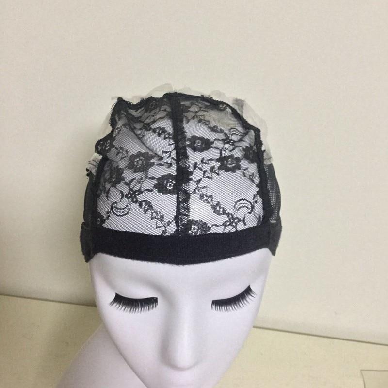 여성을위한 직조 모자 헤어 네트 및 Hairnets 조절 스트랩과 가발을 만들기위한 Easycap Glueless 레이스 가발 모자 도매 6005