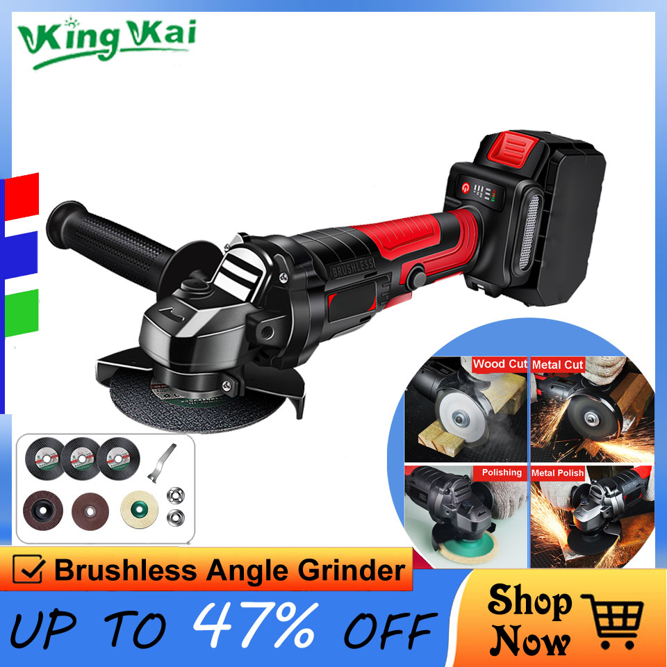D 10000r/min Brushless Long Duration Cordless Hilti Electric Power Tools Samsung Battery Polish Sand Cutting Angle Grinder