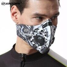 XINTOWN открытый спортивной подготовки Велоспорт маска с фильтром велосипед Маска для поврежденных волос нейлона анти PM2.5 бега Спортивная маске Bisiklet
