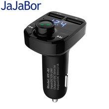 JaJaBor Voiture MP3 Audio Lecteur Bluetooth Kit De Voiture Transmetteur FM Mains Libres Appelant 5 V 4.1A Double USB Chargeur De Voiture Téléphone chargeur