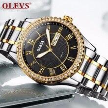 Homens relógio relogio masculino MIYATO Roman Strass Mens relógios top marca de luxo Da Moda Casal relógio de Quartzo assistir À Prova D' Água