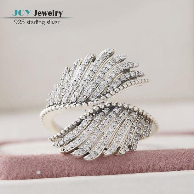 European Style Jewelry AAA Cubic Zirconia Micro Pave Majestic Phoenix Feathers Rings 925-Sterling-Silver Rings For Women Rip139