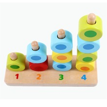 Baby Montessori Teaching Kid Early Learning Montessori Wooden Block Education Toys Count Mathematics Math Game children boys kid