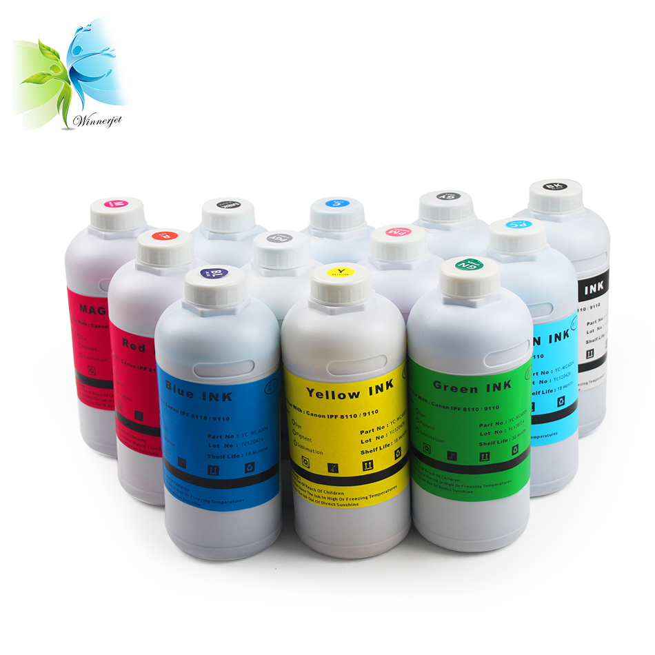 Stable Quality PFI-701 PFI-702 Inkjet Pigment Ink For Canon IPF8000 9000 8100 9100
