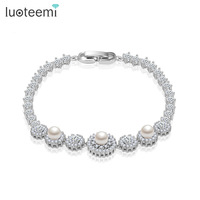 Teemi Classic New Fashion Charm Bracelet Top Quality Hearts And Arrows Round Cubic Zicon And 3