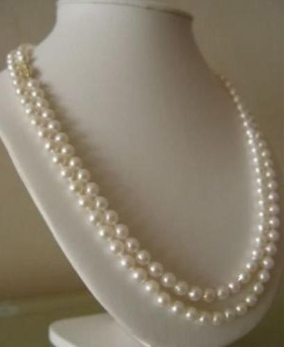 14k/20 Gold AAA 6-7mm White Akoya Cultured Pearl Necklace 50 free shipping 7mm aaa grade white akoya pearl necklace 6 07