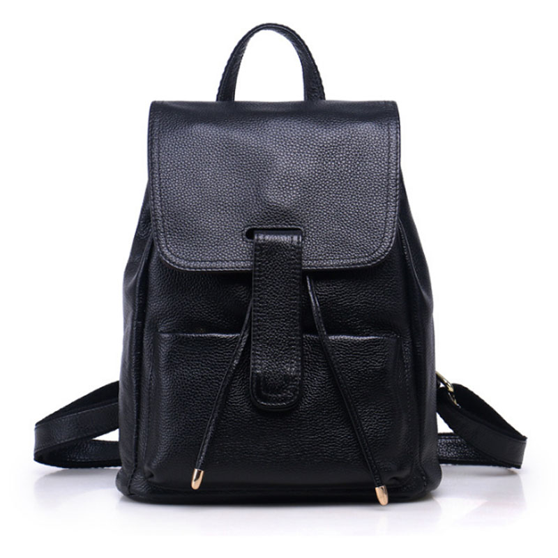 YIANG New Genuine Leather First Layer Cowhide Women Backpack Daypack Travel Book Bag School Bags Girls Rucksack new arrival female embossed leather backpack oil wax cowhide genuine leather women vintage rucksack brand girls book bag daypack