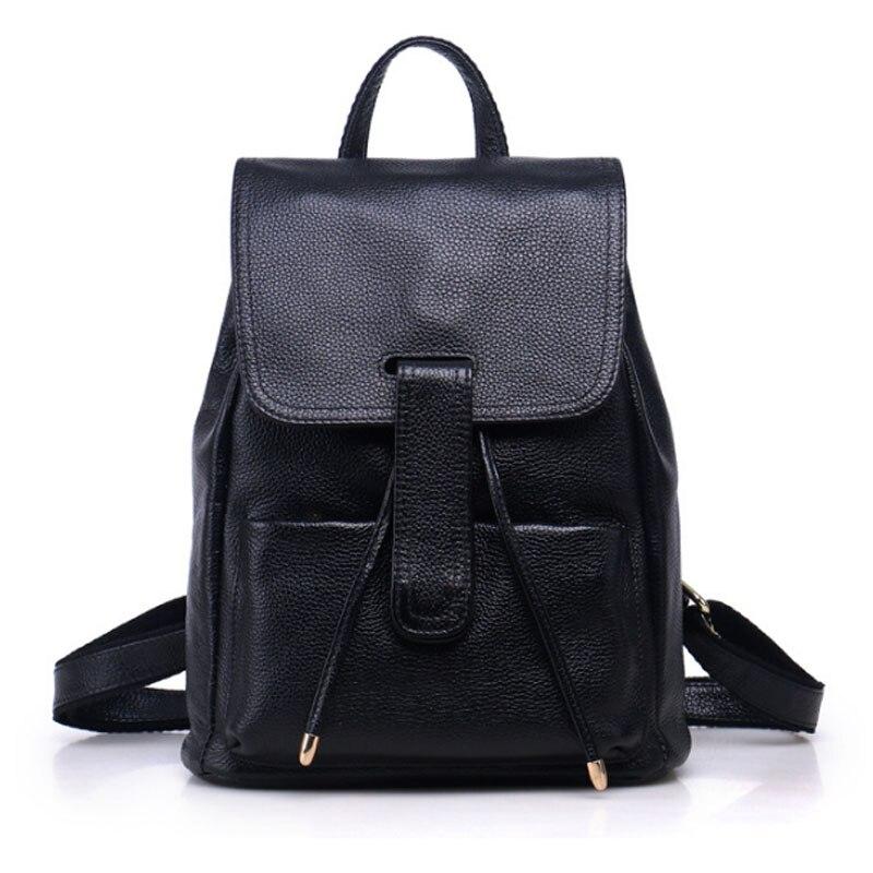 YIANG nouveau cuir véritable première couche peau de vache femmes sac à dos sac à dos voyage livre sac sacs d'école filles sac à dos