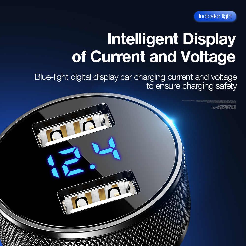 Raxfly Mobil Charger Telepon untuk Huawei P20 Pro Smart Digital Charger Mobil untuk iPhone XR 3.1A 2 Port Cepat pengisian untuk Ponsel