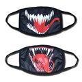 2018 Movie Venom Edward Eddie Brock Cosplay Mouth Mask Funny Cotton Black Sports Winter Warm Dustproof Anti-dust Mouth Muffle