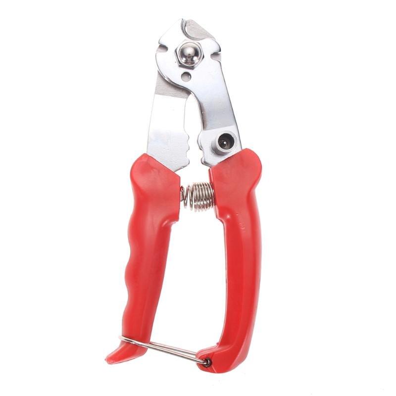 Edelstahl Fahrrad Bremse Kabel Cutter Mountainbike BMX Bremse Getriebe Draht Kabel Schneiden Werkzeug bisiklet aksesuar Rot Farbe