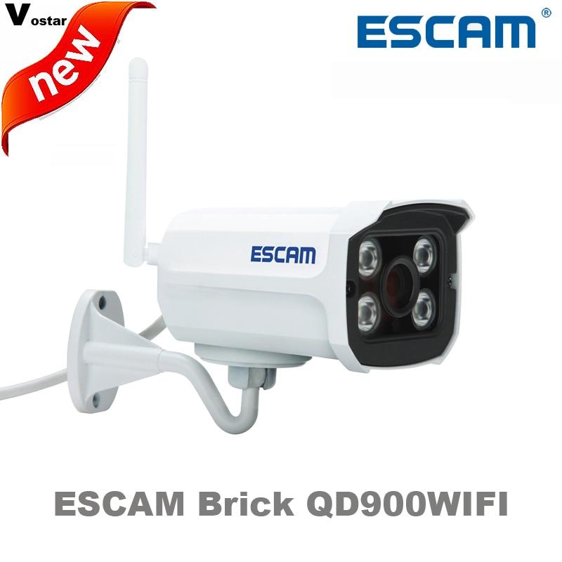 ESCAM Brick QD900WIFI 2 MP full HD Network  IR-Bullet Camera Day/Night IP66 onvif 2.2 1080p 3.6mm fixed Lens wireless ip camera practical escam brick qd900 wifi 1080p h 264 waterproof ip camera 3 6mm lens
