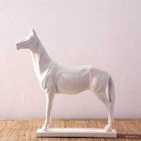 ТВ Кабинет украшения белый современный абстрактный смолы ремесла фигурки лошадей домашний Декор Гостиная и оборудование мягкой