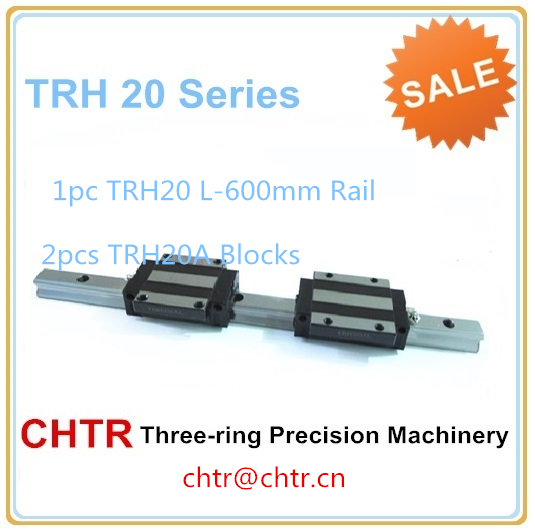 ФОТО linear guide rails for cnc (1pcs TRH20 L-600mm Rail+2 pcs TRH20A Flange Block)
