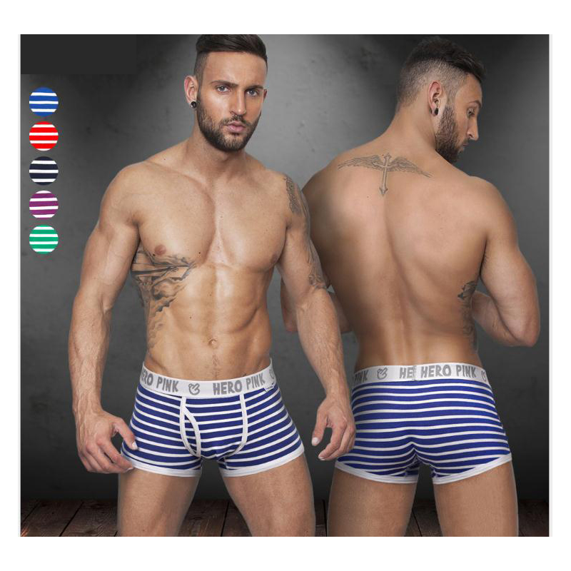 Selbstbewusst Gehemmt Verlegen Neue Männer Boxer Shorts Männlichen Sexy Streifen U Convex Unterhose Atmungsaktive Unterwäsche HeißEr Verkauf 50-70% Rabatt Unsicher Befangen