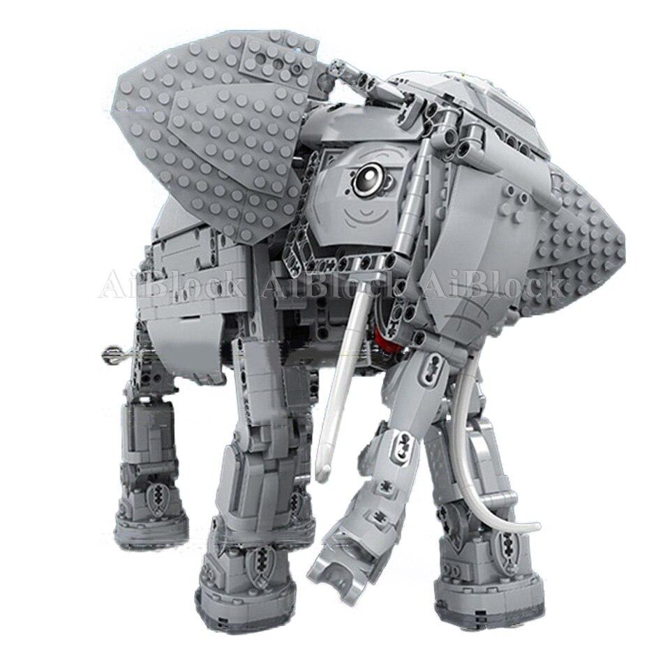 Oyuncaklar ve Hobi Ürünleri'ten Bloklar'de Stokta Motorlu Fil Tuğla Ile Uyumlu Legoing Teknik Model Yapı Taşları Çocuk Doğum Günü Hediyeleri Uzaktan Kumandalı Oyuncaklar'da  Grup 3