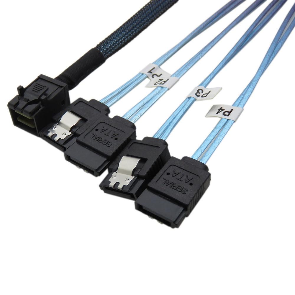 Mini Sas Kabel, SFF 8643 4 sata ventilator out Host 4 sata doel 1 m ...
