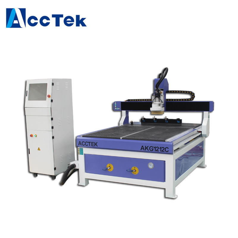 AccTek Chinese cnc router change tool with atc spindle motor/ mini atc cnc router 1212