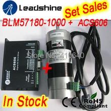 Набор Продаж Leadshine BLM57180 (квадратный фланец) серводвигатель и Сервопривод ACS606 и кабеля датчика и RS232 настройка кабель