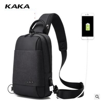 KAKA Brand Men Messenger Bag Men's Chest Sling bag for man Antitheft shoulder bag chest pack Day pack Cross body Back Pack