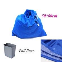 1 pc Big size 50*60cm drawstring bag and waterproof travel wet bag single pocket pail liner bag wholesale