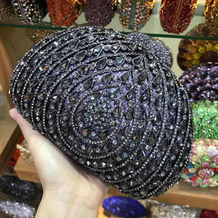 Elegante Frauen schwarz/rot/rosa/gold/silber Abendtaschen Kette umhängetasche Diamanten Metall abendkleid tag Kupplung geldbörse Taschen