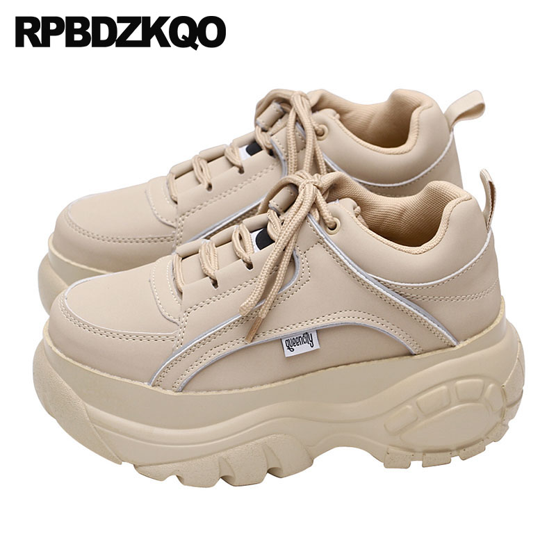 Retro Thick Platform shoes Chunky Sneakers DesignerBrand Platform Boots