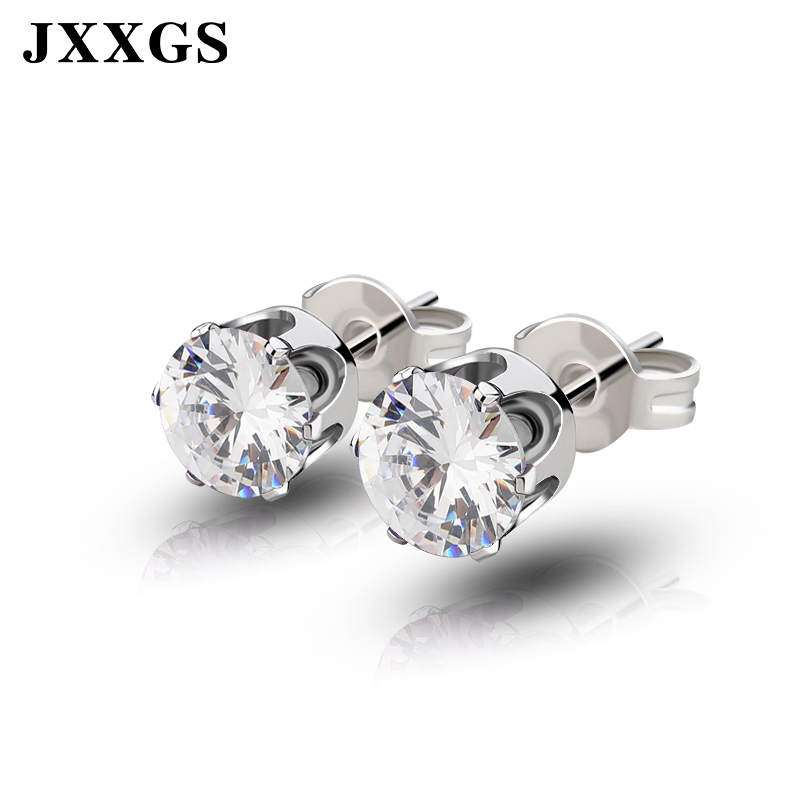 JXXGS Stud/Women Earrings 2019 Women Earrings Fashion Jewelry Green/Red/Pink/Blue/Yellow Crystal Stone Earrings For Women Gift