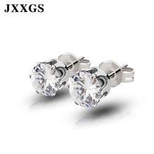 JXXGS Stud/Women Earrings 2019 Women Fashion jewelry Green/Red/Pink/Blue/Yellow Crystal Stone For Gift