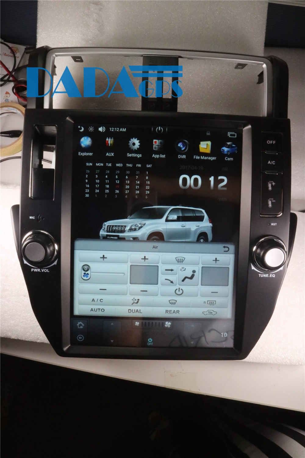 Tesla style Android 7 1 Car Radio GPS Navigation For TOYOTA Land Cruiser Prado 150 2010