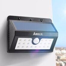Arilux забор pir движения солнечный энергии путь солнечной сада настенный светильник