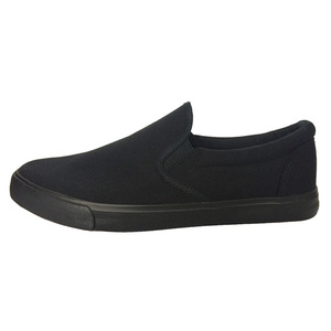 Image 3 - 2020 Fashion Canvas Shoes Men Sneakers Low top Black Shoes High Quality Mens Casual Shoes Brand Flat Plus Size 46 ZHK168