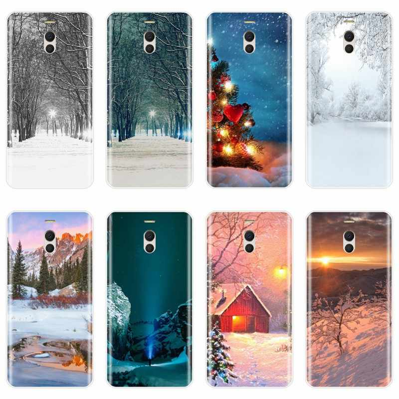 Пейзаж Зима светильник снежного покрова чехол для телефона из мягкого силикона