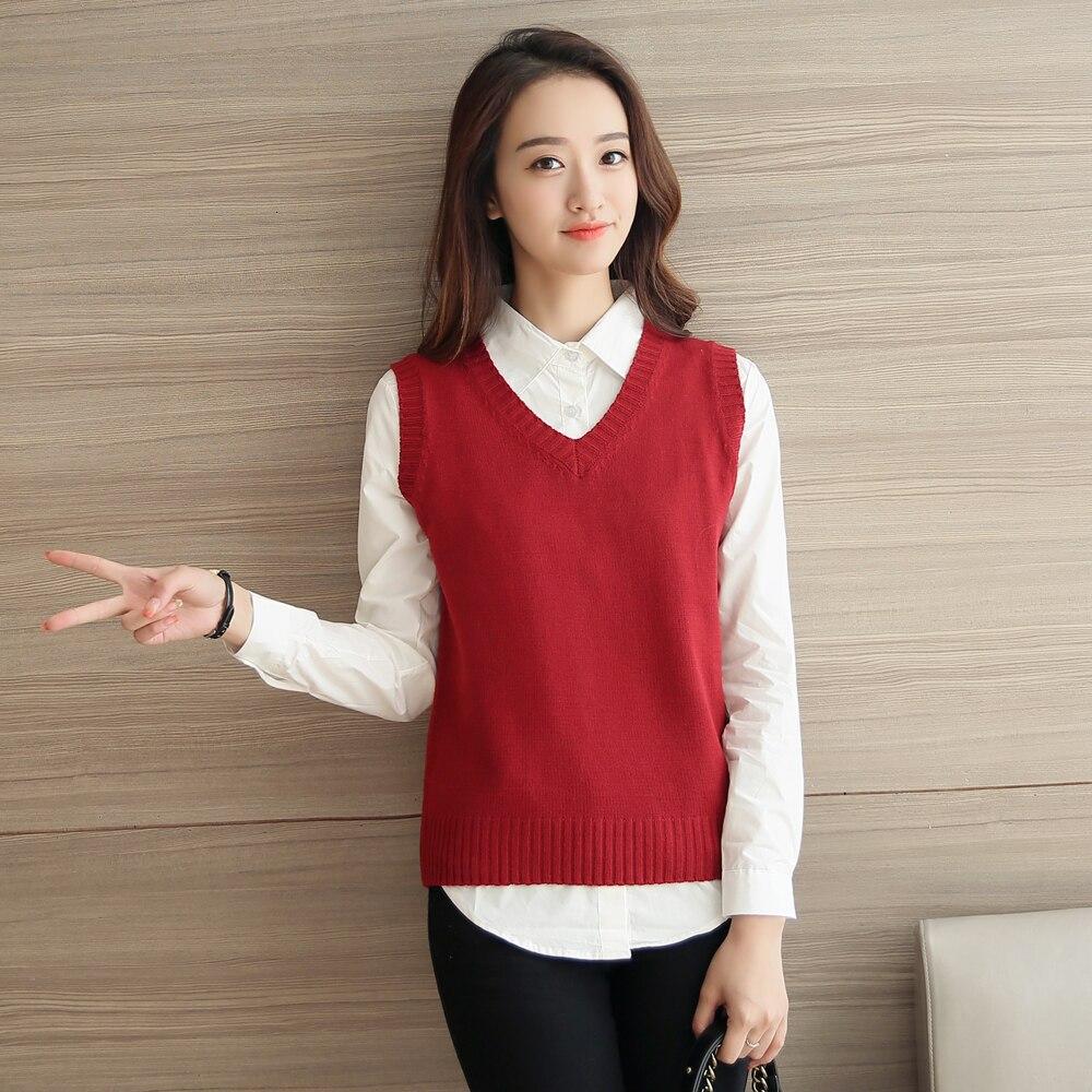 2016 Fashion Spring Autumn female sweater vest Sleeveless O neck ...