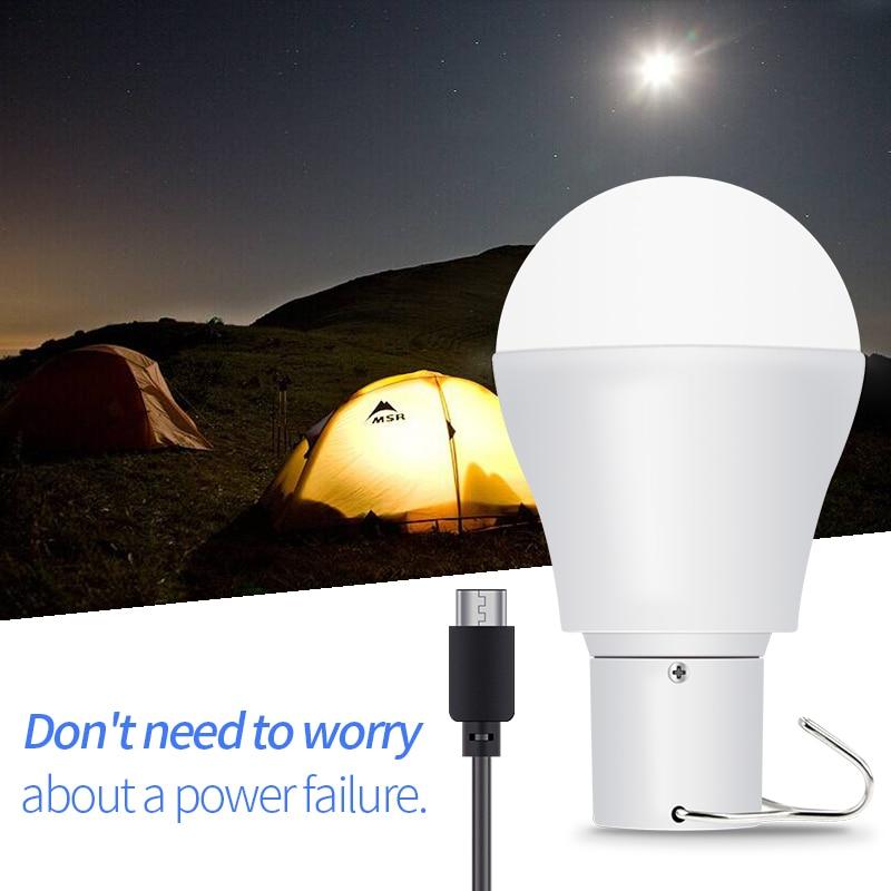 Solar Led Light Outdoor Hook Spotlight 15W lampada led solar 5-8V USB Rechargeable Bulb 2835 250LM With Panel