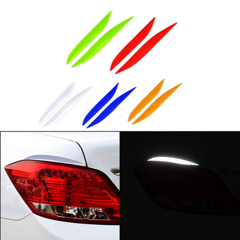 2pc Car Headlight Taillight Fog LED Light Decal Sticker For Honda Civic 2006-2011 Accord Fit City CRV Volvo S60 XC90 V40 V70 V50 image