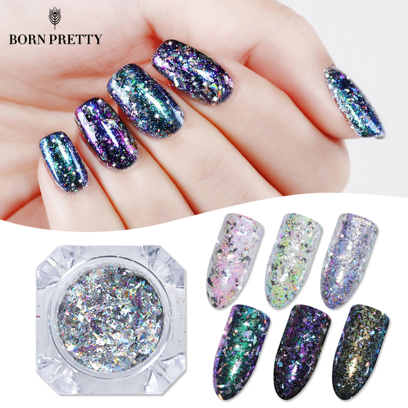 Chameleon Holographic Nail Flakes 0.2g Laser Powder Flakies Sequins Paillette Manicure Nail Art Decorations 24 bottles 3d colorful shiny nail glitter powder sequins manicure festival nail art decorations for women