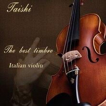 Тайши скрипка 4/4 Профессиональный 3/4 Violino Copiar Antonio Stradivari Cremonese 1716 Modelo do Brasil Arco de Violino Breu