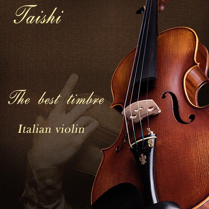 Taishi  Violin 4/4 Profissional 3/4 Violino Copiar Antonio Stradivari Cremonese 1716 Modelo Do Brasil Arco De Violino Breu