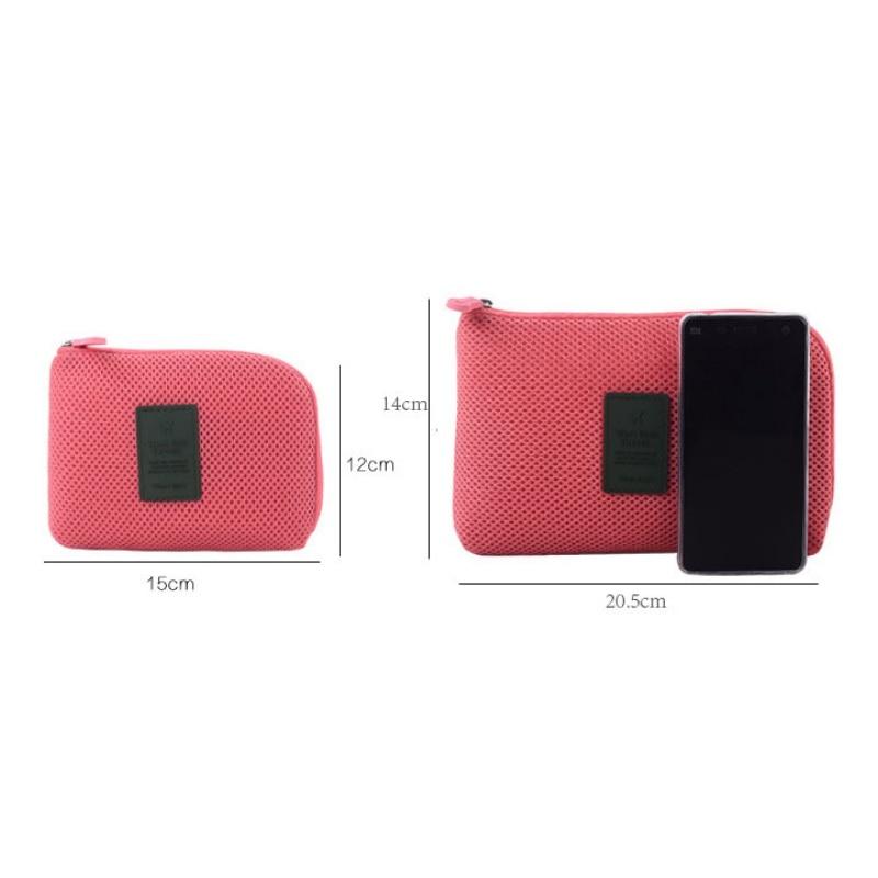 Wrap Case Cover Home Organizer Cable Storage Bag Electronic Organizer Gadget Travel Bag USB Earphone Case